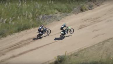 Bagarre entre Dario Arco et Felipe Ellis lors de la course Motos de Enduro del Verano 2018